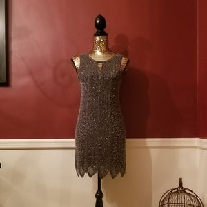 Romeo & Juliet Couture Beaded Cocktail Dress